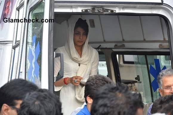Priyanka Chopra at Father's Funeral