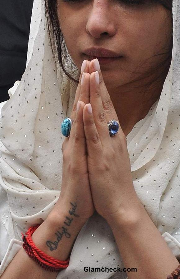 Priyanka Chopra wrist tattoo Daddys lil girl