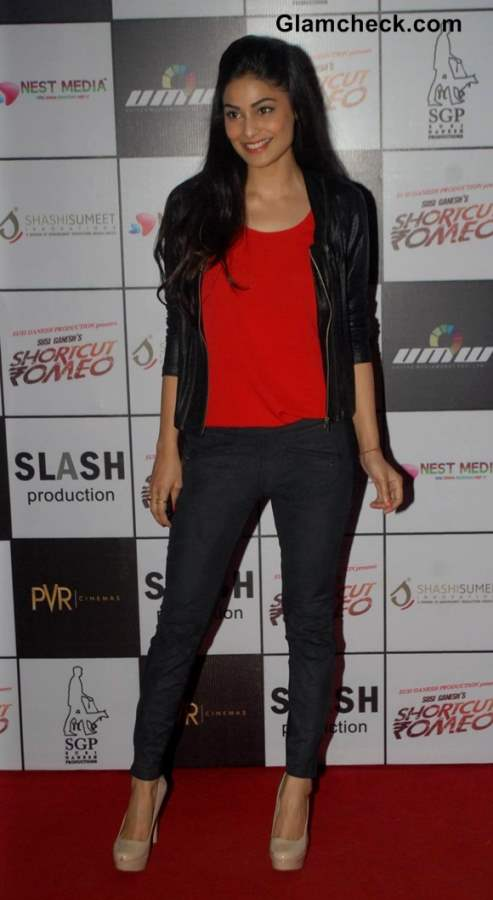 Puja Gupta Hot in Leather Jacket