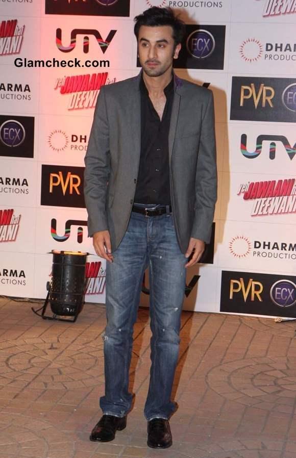 Ranbir Kapoor at the Premiere of Yeh Jawaani Hai Deewani