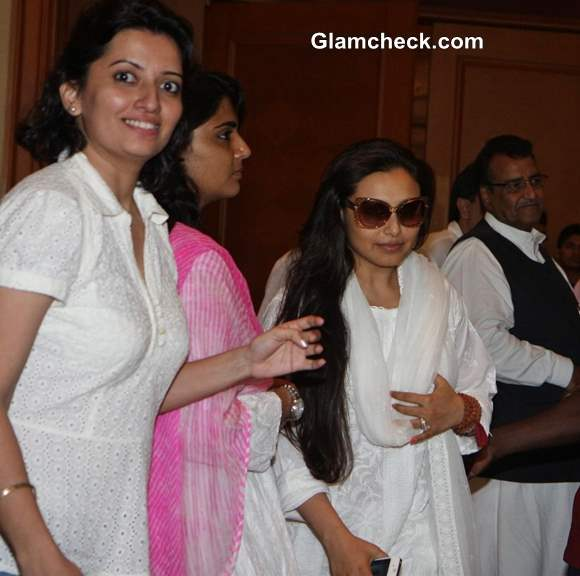 Rani Mukherjee at Condolence Meet for Priyanka Chopras Father