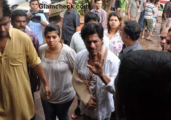 Sharukh Khan at Priyanka Chopra Father Funeral