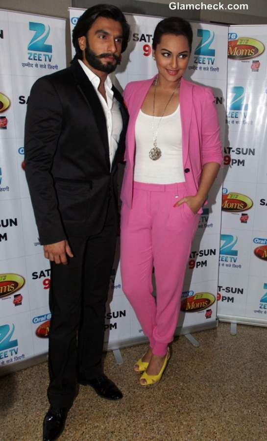 Sonakshi Sinha Fresh in Candy Pink Pantsuit on DID Super Mom