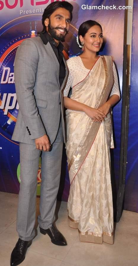 Sonakshi Sinha Ranvir Singh Promote Lootera on Indias Dancing Superstar