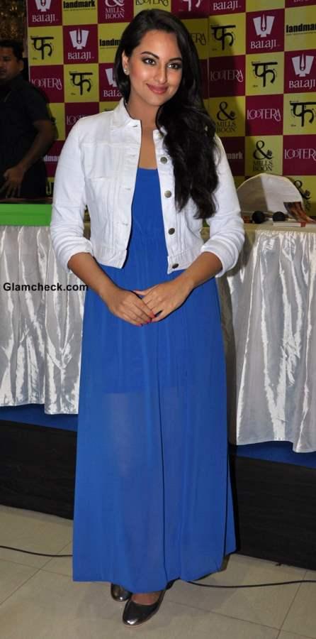 Sonakshi Sinha Refreshing in Sheer Blue Maxi 2013