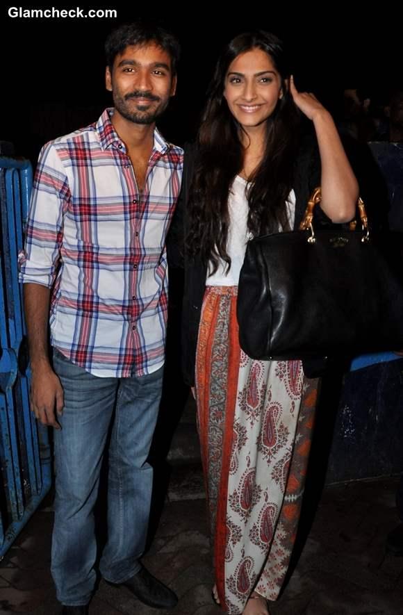 Sonam Kapoor Dhanush Chandan Cinema Mumbai