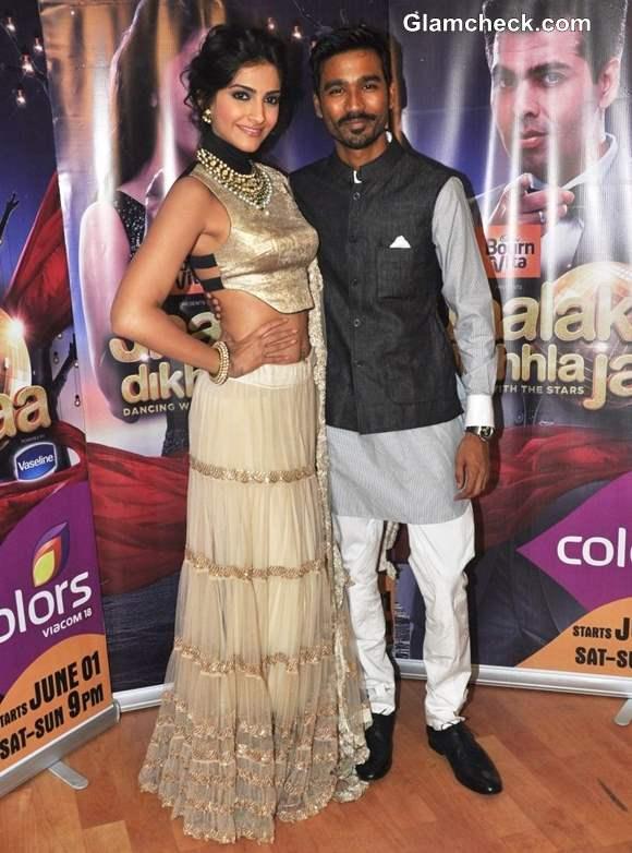 Sonam Kapoor Dhanush promote ranjhanna on Jhalak Dikhlaa Jaa