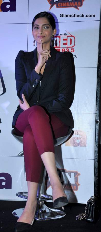 Sonam Kapoor Wearing Blazer Cropped Pants