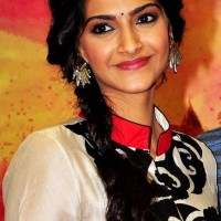 Sonam Kapoor side braid hairstyle 2013