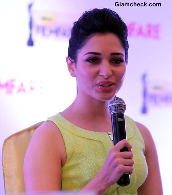 Tamannah Announces Date Venue of 60th Idea Filmfare Awards