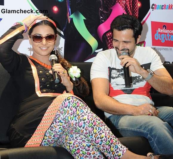 Vidya Balan Emraan Hashmi Promote Ghanchakkar in Bangalore