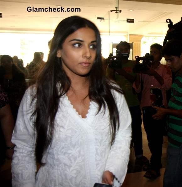Vidya Balan at Condolence Meet for Priyanka Chopras Father