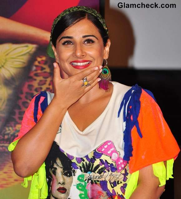 Vidya Balan at the Launch of Lazy Lad Song from Ghanchakkar