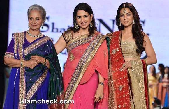 Waheeda Rahman Shaina NC Juhi Chawla at 8th Annual Caring at a Style Fashion Show