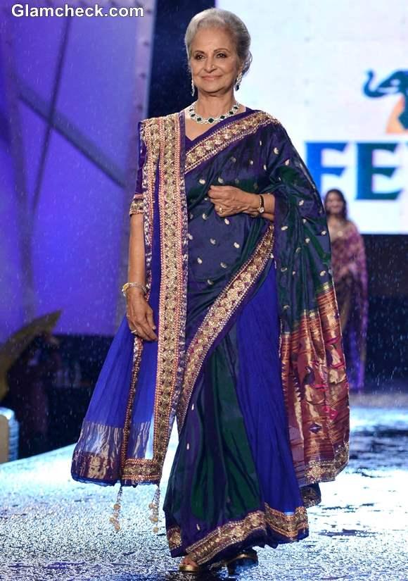 Waheeda Rahman at 8th Annual Caring at a Style Fashion Show