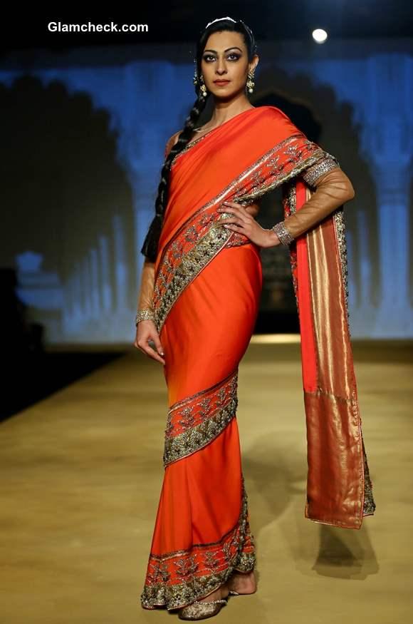 2013 India Bridal Fashion Week Ashima Leena Collection saree