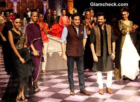 Anil Kapoor Showstopper at India Bridal Fashion Week 2013 Raghavendra Rathore