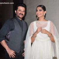 Anil Kapoor with daughter Sonam Kapoor at Success Party of Raanjhanaa