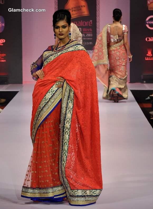 Bangalore Fashion Week Winter-Festive 2013 Ashok R Maanay Saree Collection
