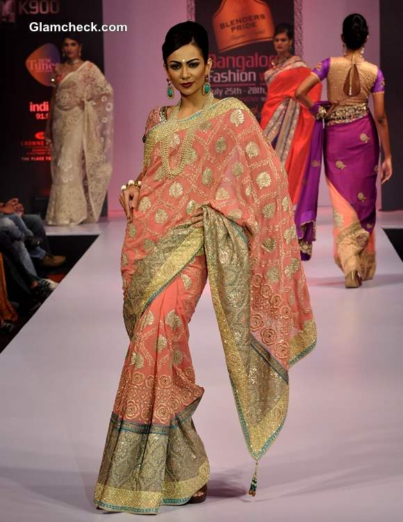 Bangalore Fashion Week Winter-Festive 2013 Ashok R Maanay