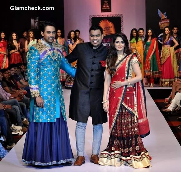 Bangalore Fashion Week Winter Festive 2013 Sagar Tenali with  Parul Yadav  Karthik Jairam