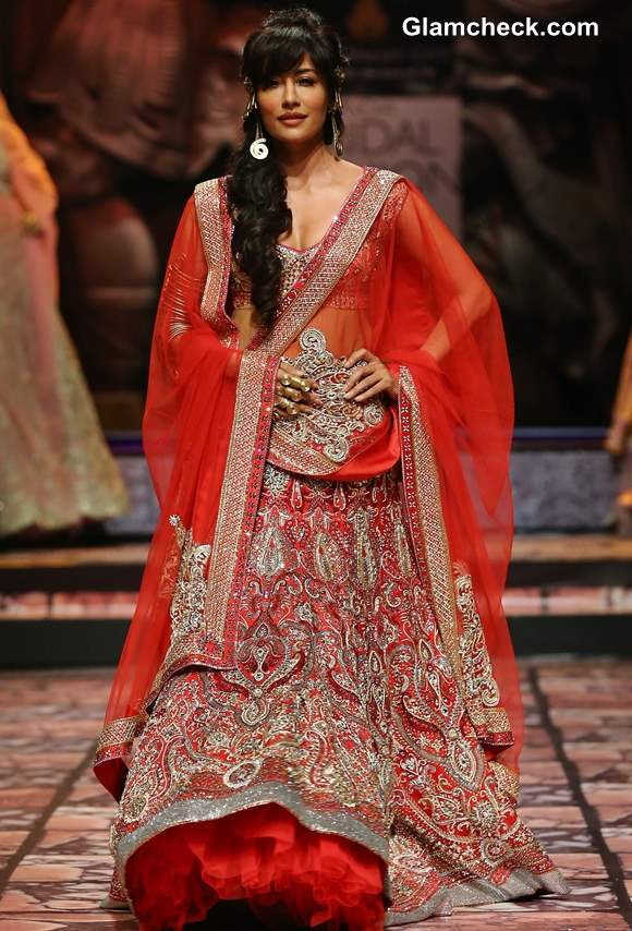 Chitrangada Singh for Suneet Varma at India Bridal Fashion Week 2013