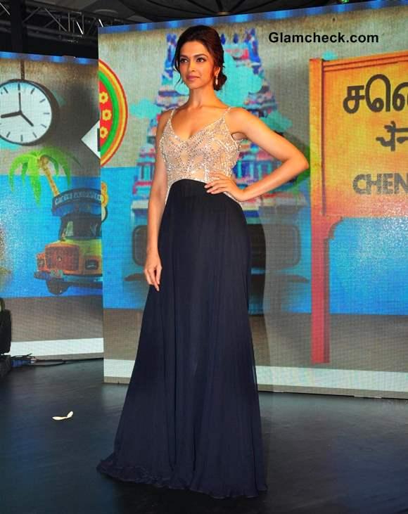 Deepika Padukone in Naeem Khan outfit at Chennai Express Music Launch