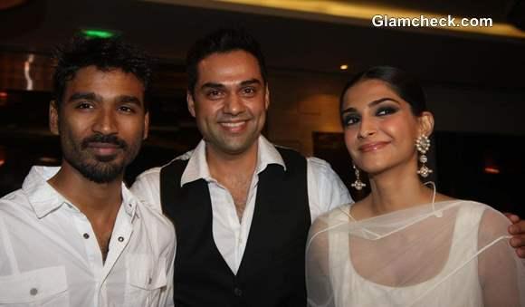 Dhanush Sonam Kapoor Abhay Deol at Rhaanjhanaa success party