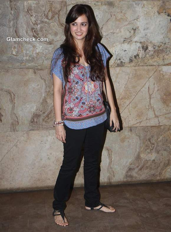 Dia Mirza at Special Screening of Underworld Thriller D-Day