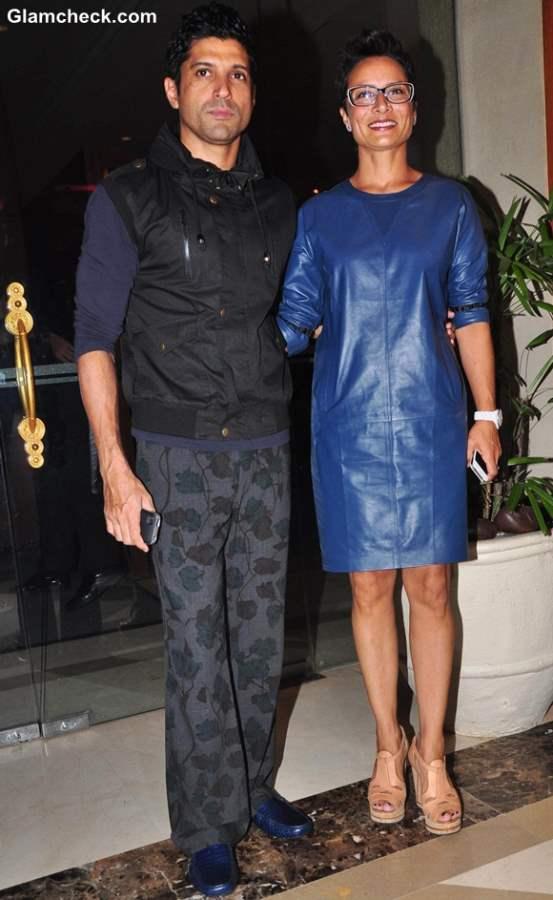 Farhan Akhtar wife Adhuna Bhaag Milkha Bhaag success party