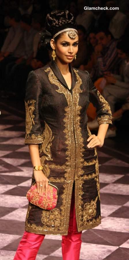 India Bridal Fashion Week 2013 Day 3 - Raghavendra Rathore Collection color blocking
