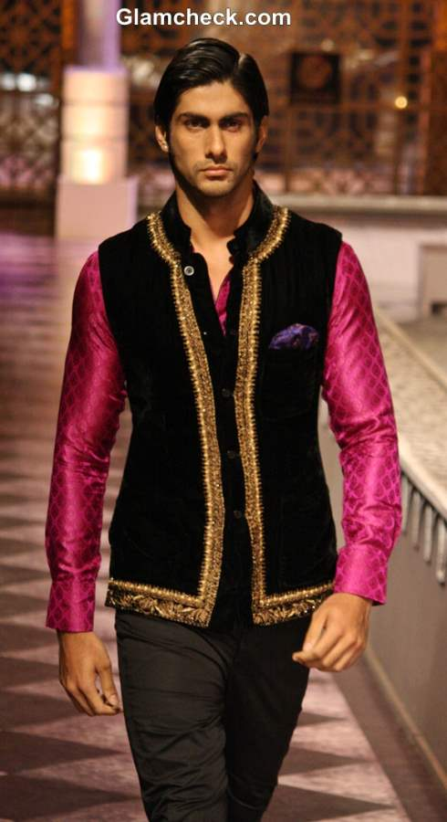 India Bridal Fashion Week 2013 Day 3 - Raghavendra Rathore Mens collection pink black
