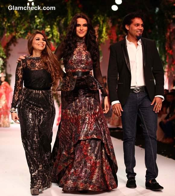 India Bridal Fashion Week 2013 Falguni Shane Peacock day 3 Neha Dhupia