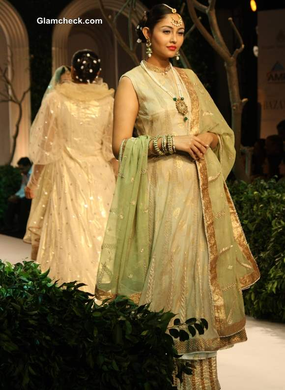 India Bridal Fashion Week 2013 Meera Muzaffar Ali anarkali