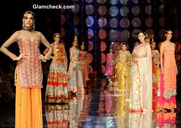 India Bridal Fashion Week 2013 Models in Rina Dhaka Collection