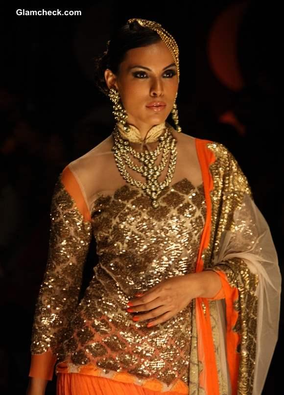 India Bridal Fashion Week 2013 Rina Dhaka sheer blouses