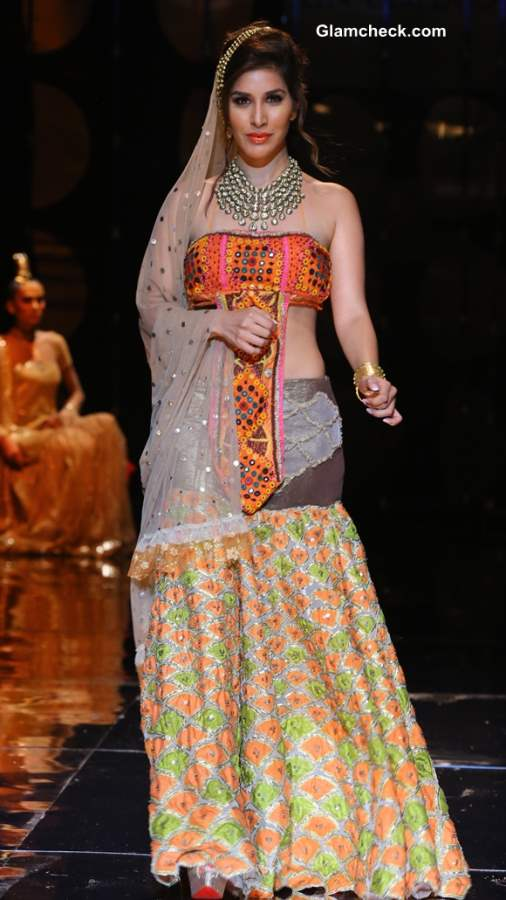 India Bridal Fashion Week 2013 Sophie Choudhary seen in Rina Dhaka Collection
