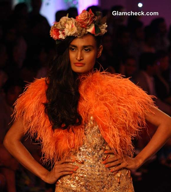 India Bridal Fashion Week 2013 day 3 Falguni Shane Peacock Floral Headgears