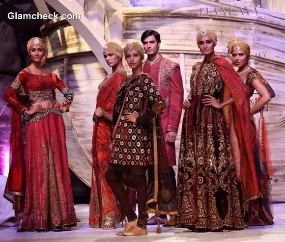 India Bridal Fashion week 2013 day 1 JJ Valaya collection
