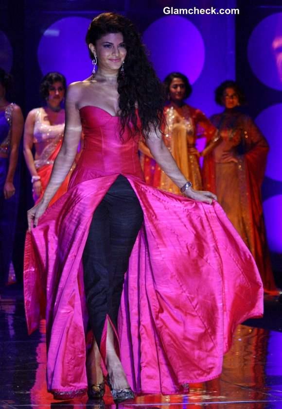 Jacqueline Fernandez at India Bridal Fashion Week 2013 Jyotsana Tiwari Show
