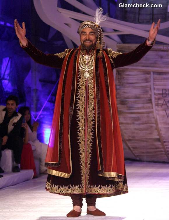 Kabir Bedi India Bridal Fashion week 2013 day 1 JJ Valaya show