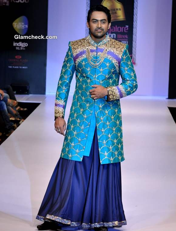 Karthik Jairam in Sagar Tenali Creation at Bangalore Fashion Week Winter Festive 2013