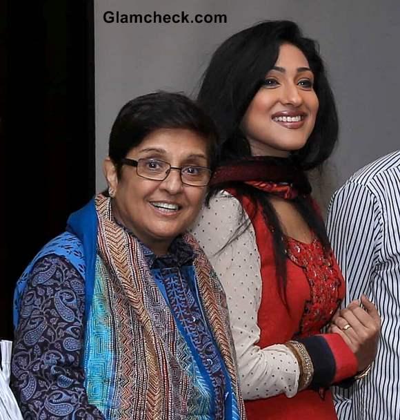 Kiran Bedi Rituparna Sengupta Promote movie Calapor