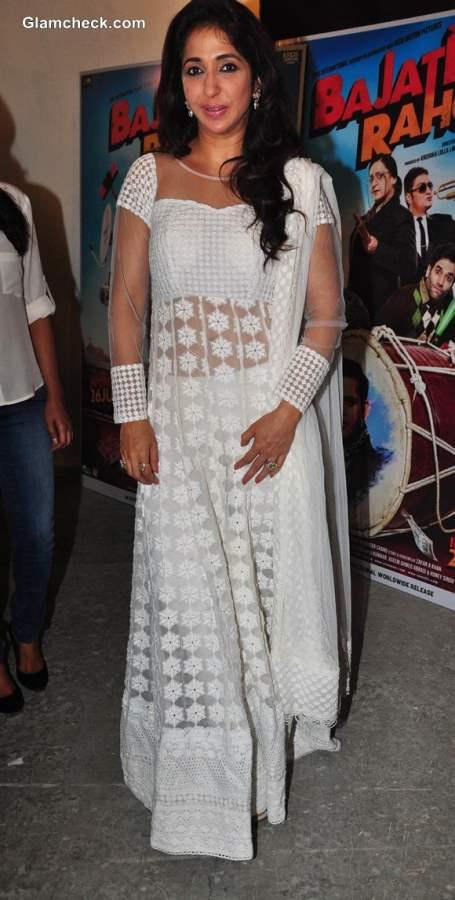 Krishika Lulla in white anarkali suit 2013