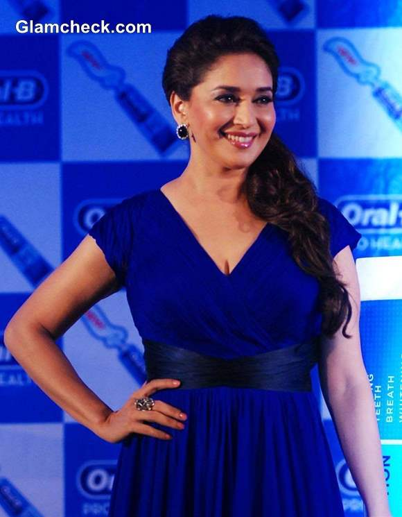 Madhuri Dixit 2013 blue dress