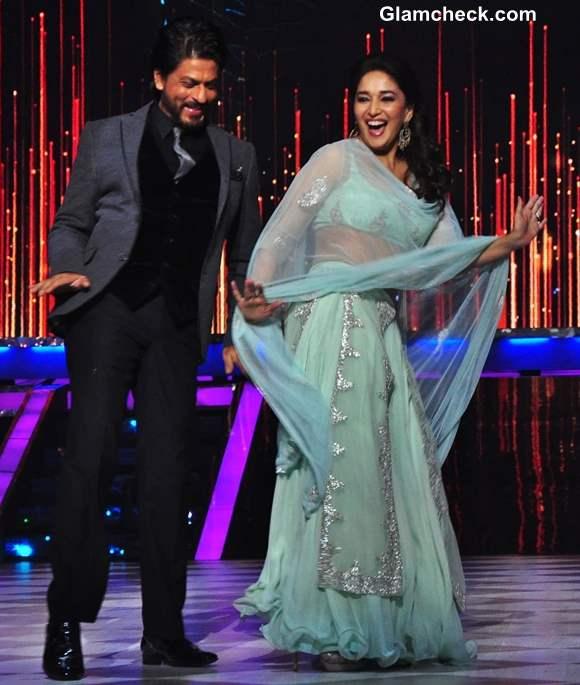 Madhuri Dixit Sharukh Khan dancing on Jhalak Dikhla Ja
