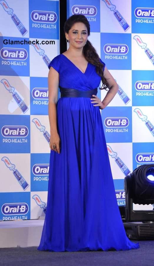 Madhuri Dixit  in Blue Maxi dress 2013
