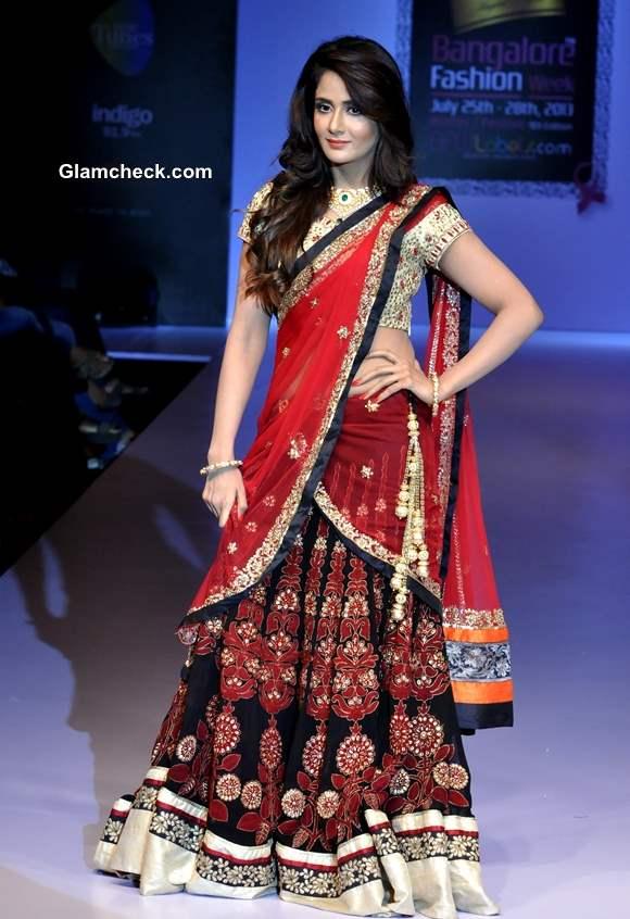 Parul Yadav in Sagar Tenali Creation at Bangalore Fashion Week Winter Festive 2013