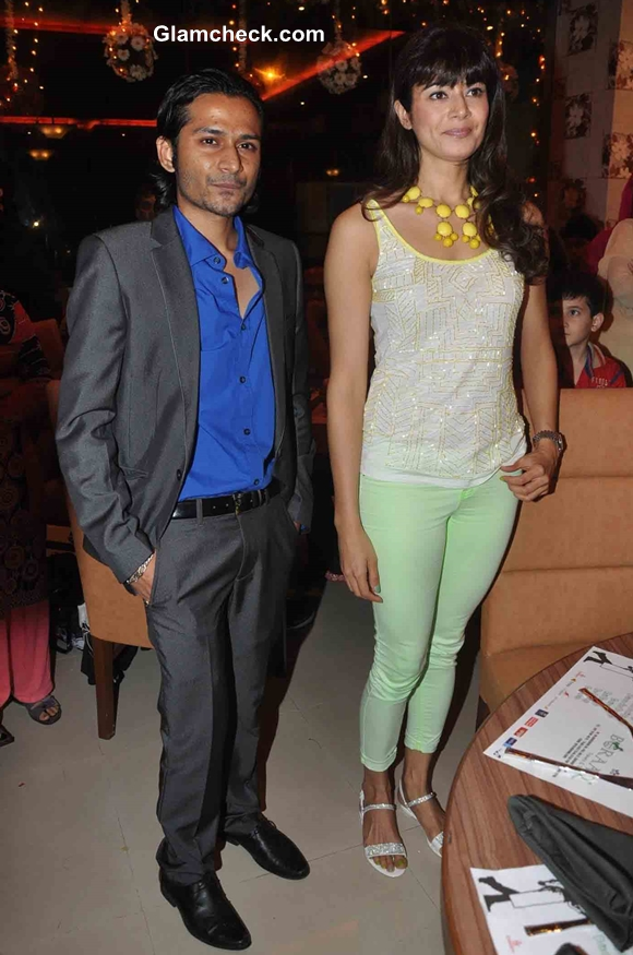 Bollywood actress Pooja Batra during the opening of a new restaurant Yoko Sizzlers in Mumbai on July 7, 2013. (Photo: IANS)