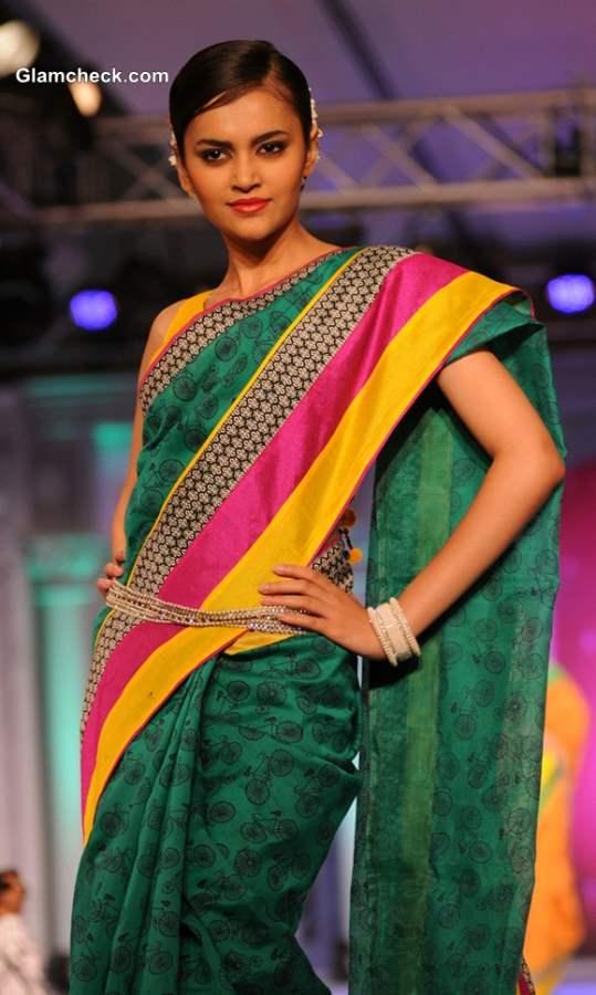 Rajguru Fashion Parade show 2013 sarees